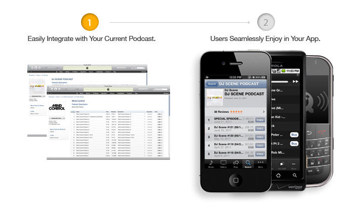 Integrate Podcasts in apps
