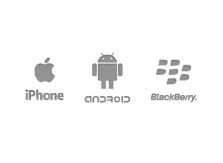 apple app store, android marketplace, blackberry app world