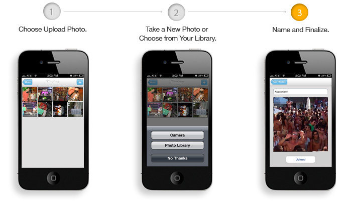 upload photos to android apps, iphone apps, blackberry apps